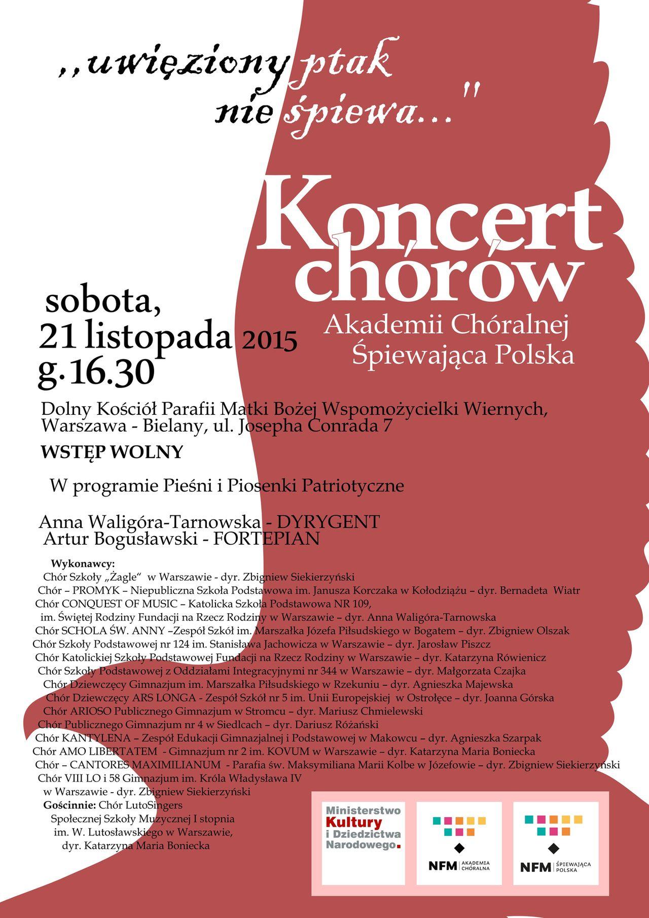 plakat koncert 21 11 2015